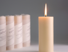 organic beeswax candle cathedral
