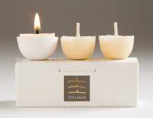 organic beeswax tealight candles