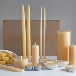 beeswax candles giftset box of joy
