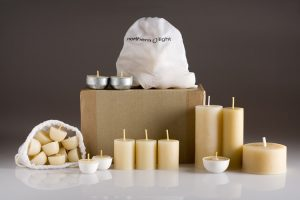 earth hour beeswax candles gift set