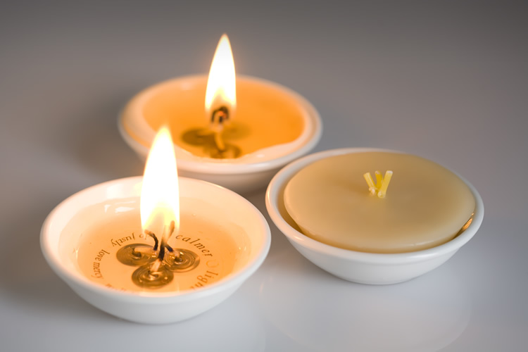 organic beeswax candle calm light