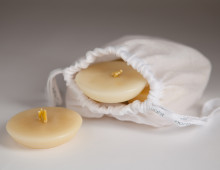 organic beeswax candle calmer light refill