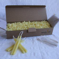 DIY Beeswax dipped candles